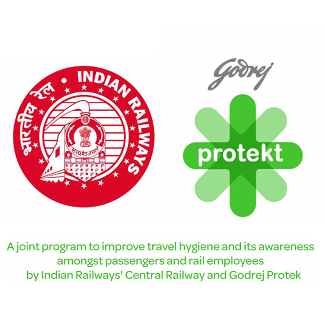 Godrej Protekt partners with Indian Railways for hygiene-based safe rail travel program